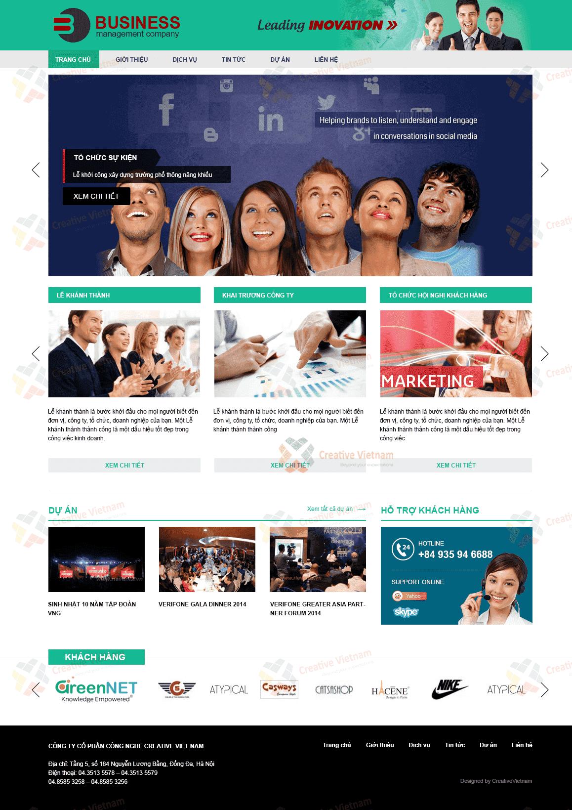 Thiết kế Website công ty Tổ chức sự kiện Business